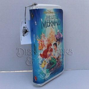 Disney The Little Mermaid VHS Wallet/Clutch Purse